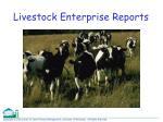 livestock enterprise reports