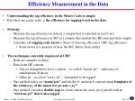 efficiency measurement in the data