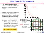 light flavor jet tag asymmetry