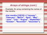 arrays of strings cont