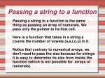 passing a string to a function