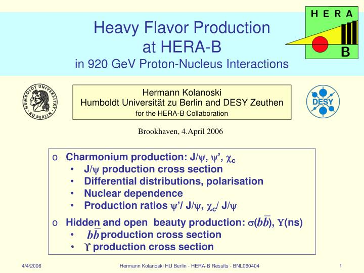 heavy flavor production at hera b in 920 gev proton nucleus interactions n.