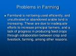 problems in farming