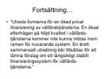 forts ttning