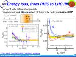 energy loss from rhic to lhc iii