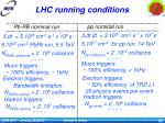 lhc running conditions