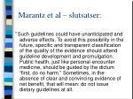 marantz et al slutsatser