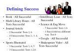 defining success1