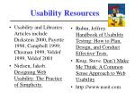 usability resources