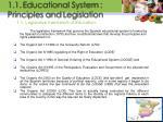 1 1 legislative framework of education