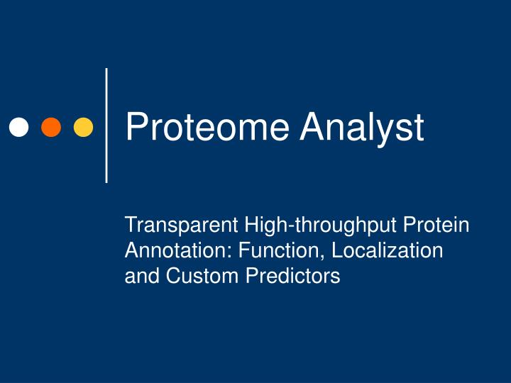 proteome analyst n.