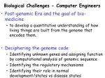 biological challenges computer engineers