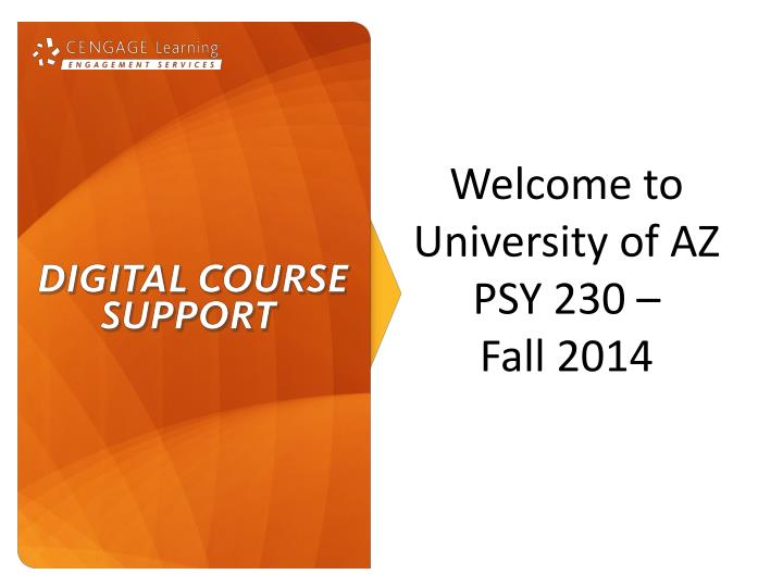 welcome to university of az psy 230 fall 2014 n.