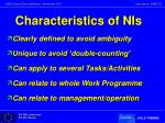 characteristics of nis1