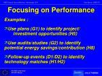 focusing on performance1