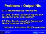 problems output nis
