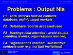 problems output nis2