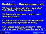 problems performance nis1