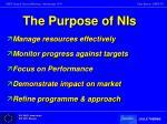 the purpose of nis