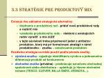 3 3 strat gie pre produktov mix