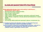 glob lne marketingov strat gie