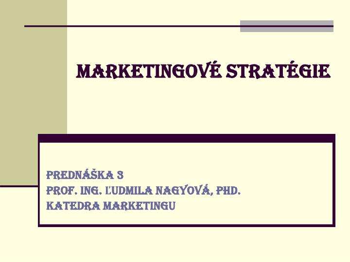 marketingov strat gie n.