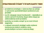 strategick vahy v etape rastu trhu