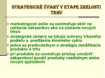strategick vahy v etape zrelosti trhu