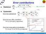 error contributions