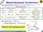 measuring beauty via electrons