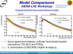 model comparisons hera lhc workshop