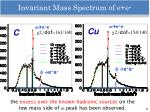 invariant mass spectrum of e e1