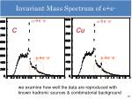 invariant mass spectrum of e e2