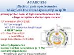 j parc e16 electron pair spectrometer to explore the chiral symmetry in qcd1