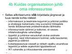 4b kuidas organisatsioon juhib oma inforessursse