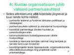 4c kuidas organisatsioon juhib v liseid partnerlussuhteid