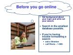 before you go online
