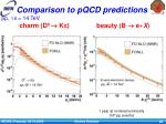 comparison to pqcd predictions