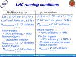 lhc running conditions