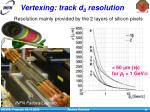 vertexing track d 0 resolution