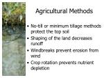 agricultural methods
