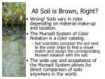 all soil is brown right