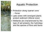 aquatic protection