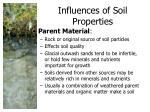influences of soil properties1
