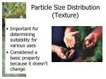 particle size distribution texture