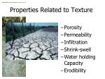 properties related to texture