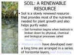 soil a renewable resource