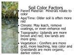 soil color factors
