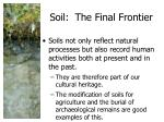 soil the final frontier1