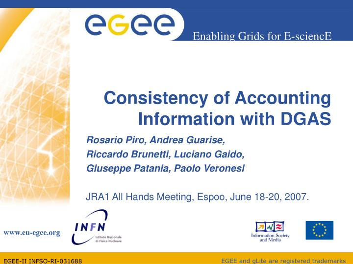 consistency of accounting information with dgas n.